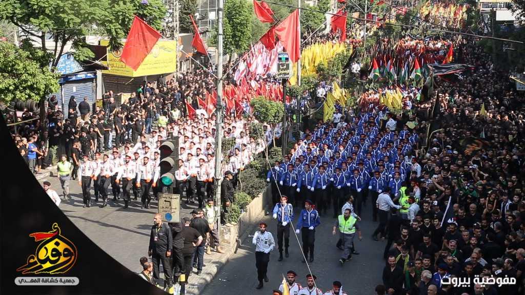 3793 حسيني وزينبيّة من مفوضية بيروت في مسيرة العاشر من محرّم المركزيّة