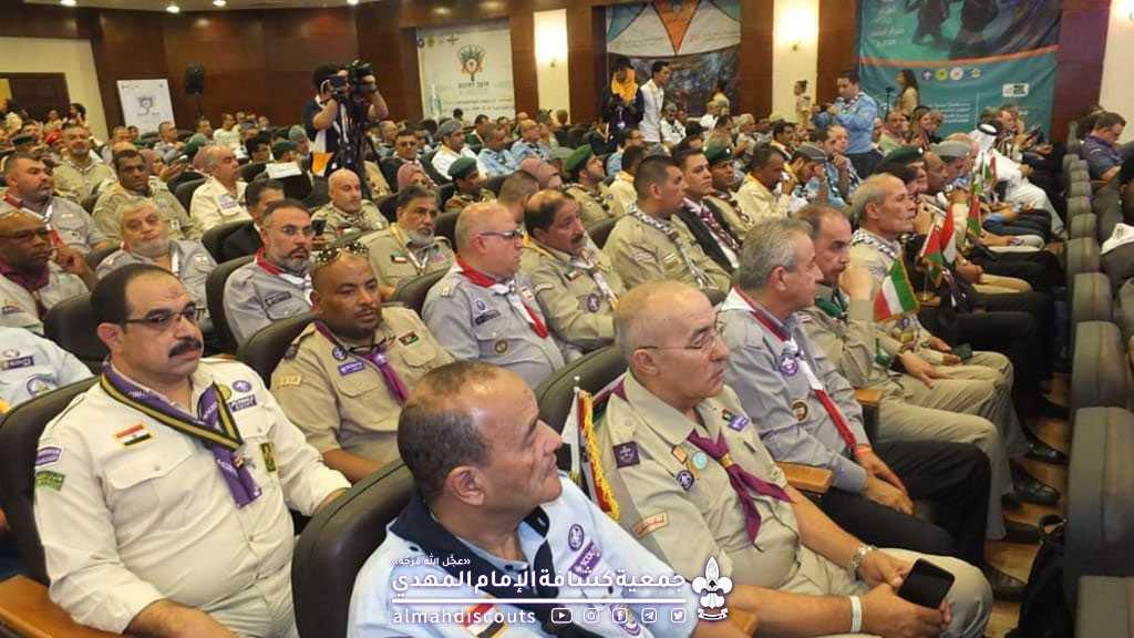 رئيس الجمعية والمفوض الدولي يتابعان فعاليات اليوم الرابع من المؤتمر الكشفي العالمي في شرم الشيخ