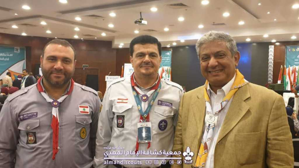 رئيس الجمعية يلتقي الأمين العام الجديد للمنظمة الكشفية العربية على هامش المؤتمر الكشفي العربي في مصر