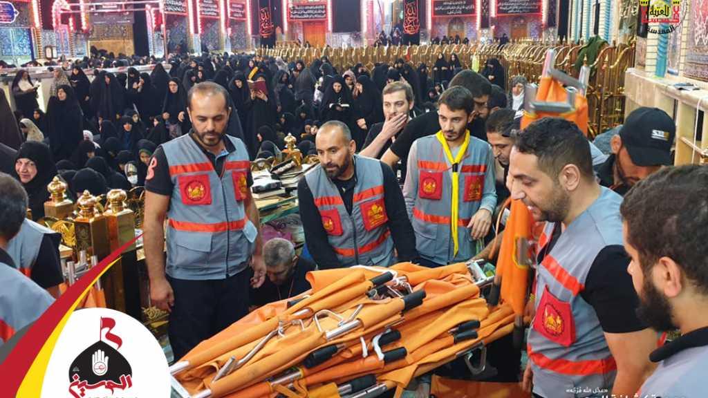 وفد خدَّام زوار الإمام الحُسين في الأربعين التابع للجمعية يُنهي مهامه الليلة بعد إسعاف أكثر من 13 ألف حالة