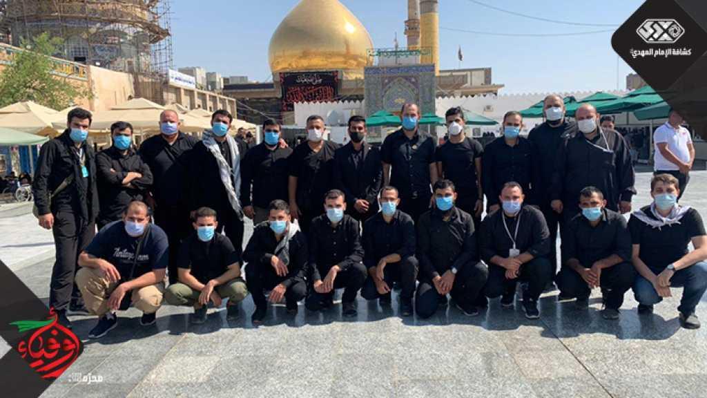 وفد خُدّام زوار الإمام الحسين (عليه السلام) يزور المقامات المقدسة في الكاظمية وسامراء
