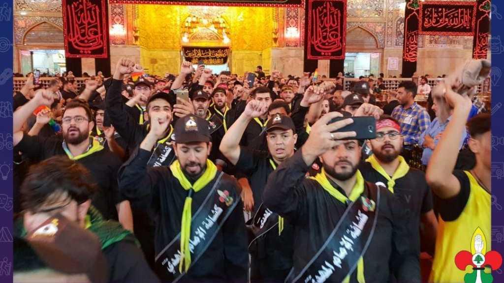 وفد خدام زوار الإمام الحسين يبدء خدمته في الصحن الحسيني الشريف