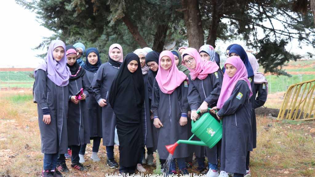 طلاب مدرسة المهدي شاهد، في مدينة السيد عباس الموسوي الشبابية الكشفية