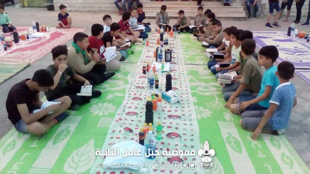 مائدة إفطار في فوج القصيبة