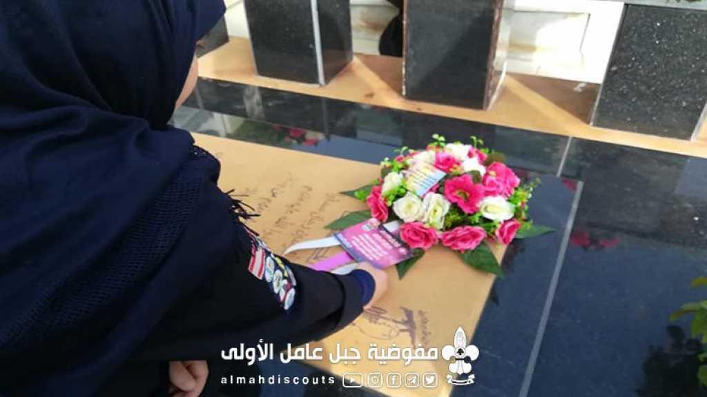 تزيين أضرحة الشهداء في سلعا