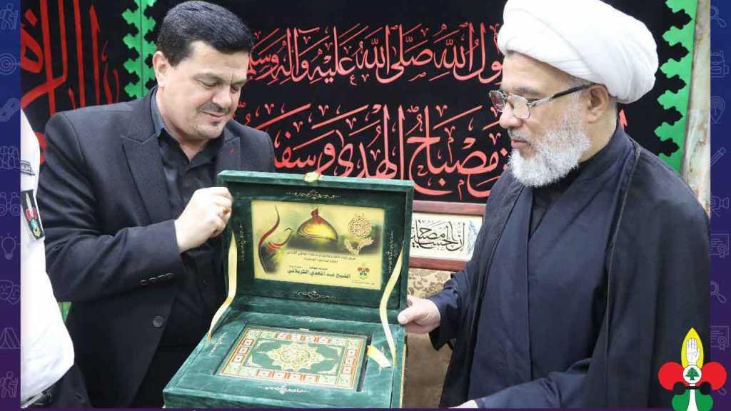رئيس جمعية كشافة الإمام المهدي يلتقي المتولي الشرعي للعتبة الحسينية المُقدسة