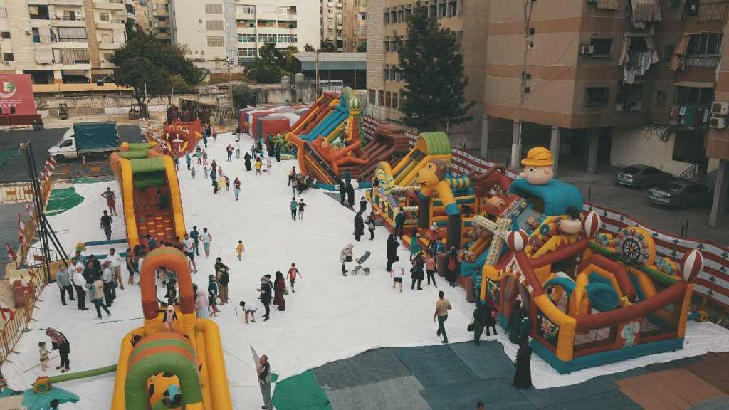 مفوضية بيروت تفتتج الجناح الخاص بالأنشطة الفنية و الالعاب الترفيهية للأطفال والناشئة في مهرجان الضاحية 2018
