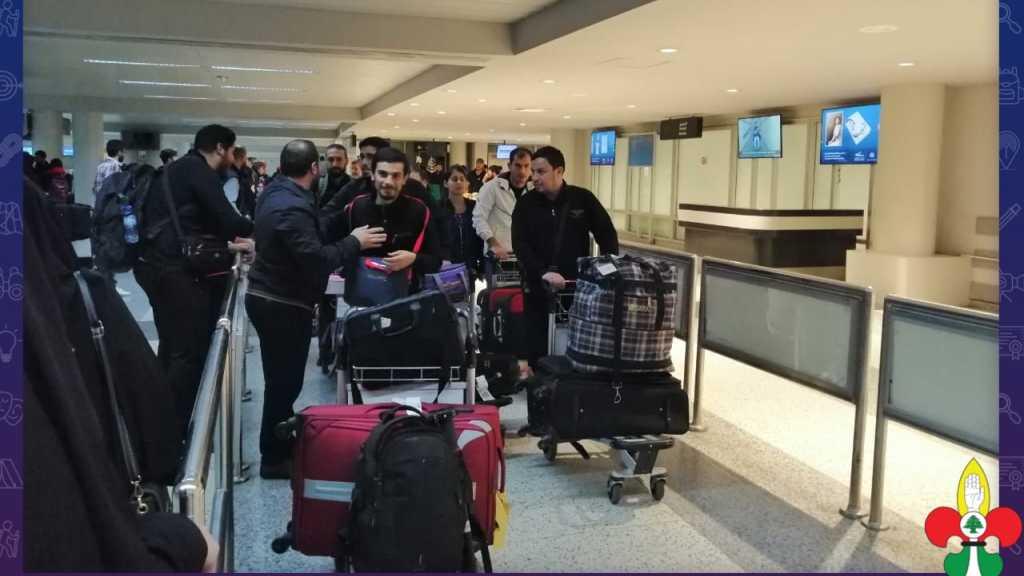 فوج خدام زوار الإمام الحسين يصل الى لبنان عائداً من العراق