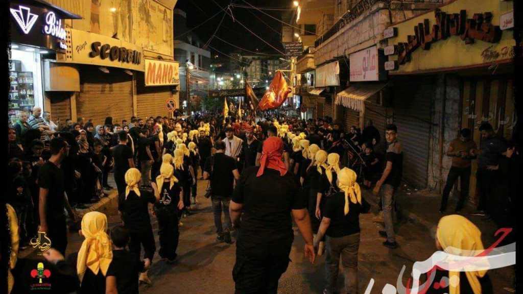 مسيرة عاشورائية حاشدة في قطاع الإمام الحسين، النبطية.